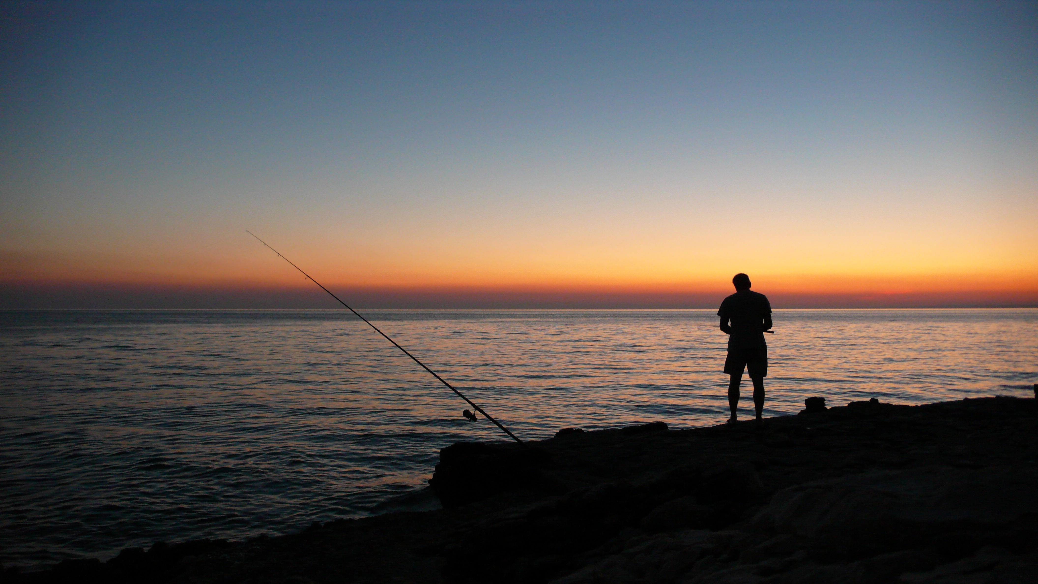 coucher de soleil pecheur mer