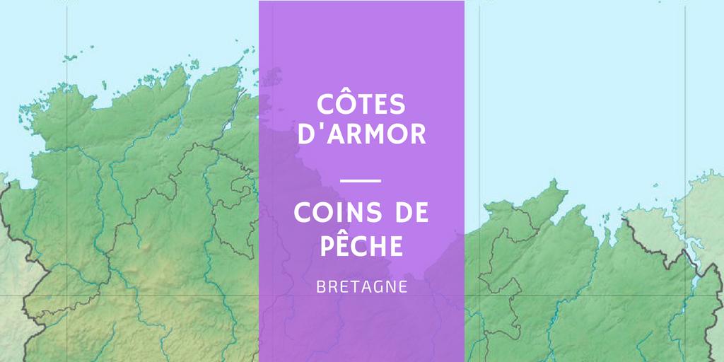 zone coin spot de pêche saint Brieuc Erquy Paimpol Perros Tragastel Lannion